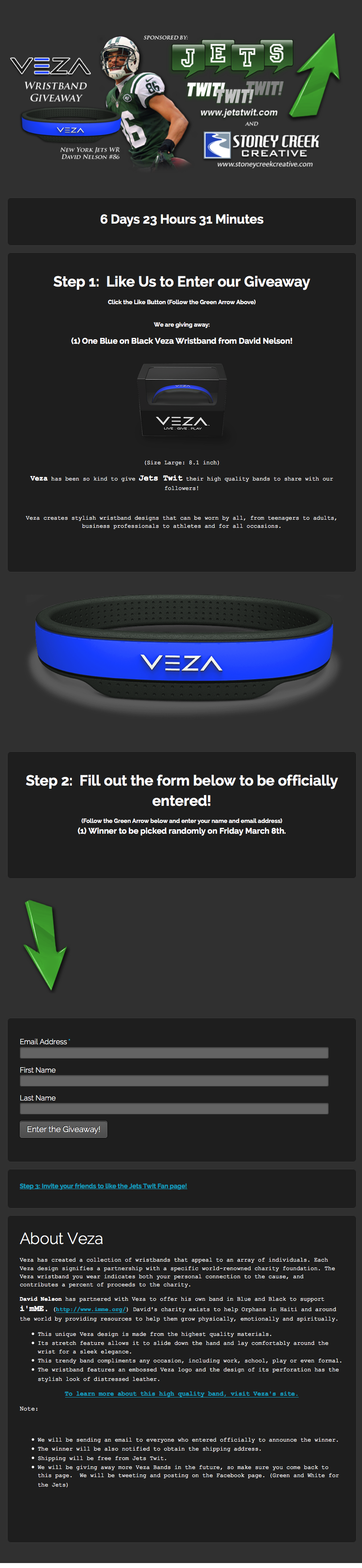 Veza-signup-giveaway